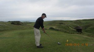 AN EAGLE HERE. Par 5 442m 17th, Ailsa Course, Turnberry